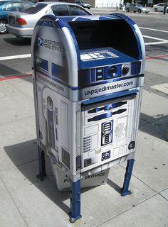 R2D2 droid mailbox