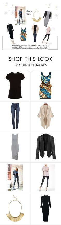 """""""Everything goes with our Essential Fringe"""" by lucypignatelli on Polyvore featuring Vince, Hervé Léger, J Brand, Catherine Catherine Malandrino, Stella & Dot, WithChic and Jimmy Choo"""