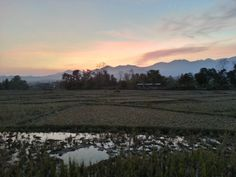 A sunset from the valley in Pai, Thailand