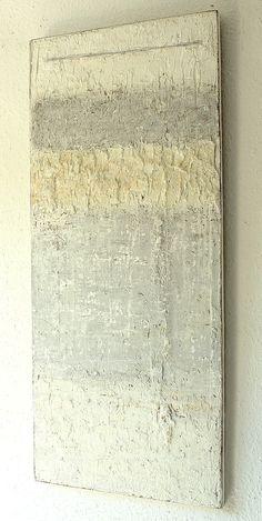 201 3  - 1 14  x 50 x 2,1  cm - Mischtechnik , Spachtelmasse auf Holzplatte  ● nicht mehr verfügbar  , Abstrakte,        Kunst, Malerei,  ...