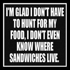 Where do sandwiches live?