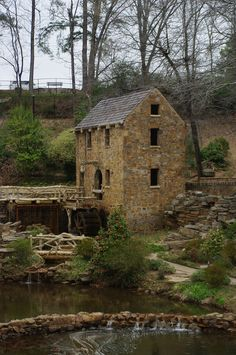 This mill was built in the 1930s, the mill was never used as a watermill but as a feature in a park.  The mill is located in a residential area of North Little Rock.  The mill site is down below street level.