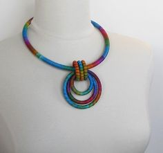 Pendant Statement Necklace Carnivale by fiber2love on Etsy, $55.00