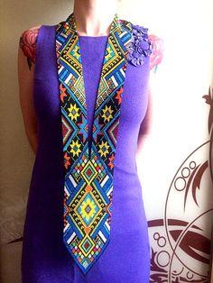 Ukrainian Hutsul Carpathian Bead Necklace, Bead Loom Necklace, Loom Bead Necklace, Ukrainian Ethnic Jewelry, Ukraine Ethno Bead Jewelry
