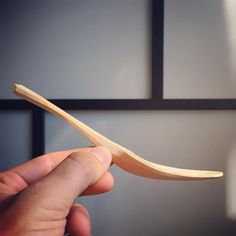 Profile of cherry eating spoon #spooncarving