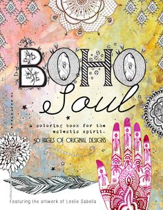 Boho Soul Adult Coloring Book - adult coloring book, coloring book, #boho #bohosoul #adultcoloringbook