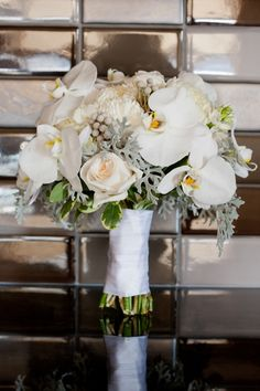 Winter whites! #wedding #bouquet #winter #flowers
