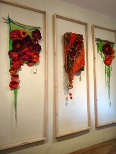 20 September to 31 October 2014 - The 'Wild' Flower Shop Edinburgh Textile Fiber Art, Textile Artists, Nuno Felting, Needle Felting, Felt Wall Hanging, Felt Pictures, Fru Fru, Textiles, Wool Art