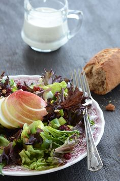 Festive Fall Salad with Homemade Blue Cheese Dressing