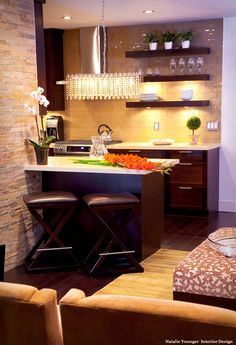 small table for small kitchen with dark brown wood legs and white counter top similar to the kitchen of Small Dining Table Ideas for Small Kitchen