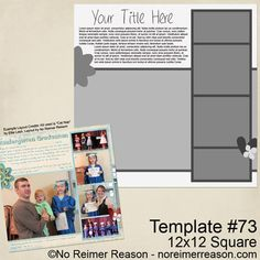 Free 12x12 Digital Scrapbook Template Download