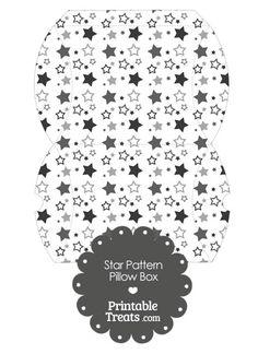 Large Grey Star Pattern Pillow Box from PrintableTreats.com