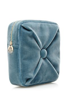 Blue Velvet Square Cushion Pouch