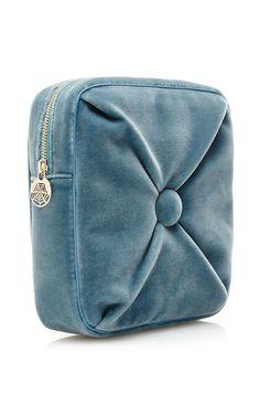 Blue Velvet Square Cushion Pouch