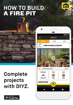 Building a fire pit can be a fun weekend project that you'll enjoy throughout the year. Learn how to build a fire pit from the ground up using the DIYZ app! DIYZ is a top home improvement app with a comprehensive video library and shopping lists for extensive popular home projects. You can also video chat with a pro contractor for any home improvement question. Download the DIYZ app and learn how to build your own fire pit today!