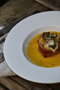 La Cucina di Stagione: Paccheri ripieni di porcini e provolone su crema di zucca