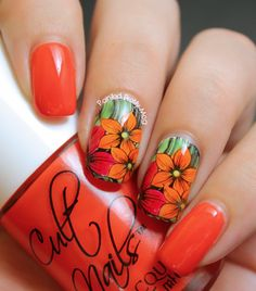 Painted Pretty: Red Coat Tuesday: Cult Nails Ay Poppy!