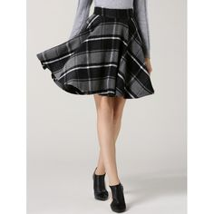 24.36$  Watch here - http://dihva.justgood.pw/go.php?t=202539607 - High Waisted Tartan Flare Skirt 24.36$