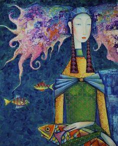 Монгольский художник Zayasaikhan Sambuu. . Обсуждение на LiveInternet - Российский Сервис Онлайн-Дневников
