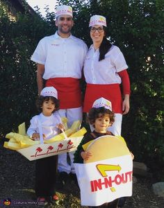 Stephanie: This is our completely homemade family costumes, except for the In-n-out hats! We have 2 1/2-year-old twin boys, so I wanted to do a core Nading costume for both of...