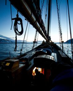 """Pinned from feedly.com I'm reminded of Gordon Bok's song, """"In that wee dark engine room"""". (Yes, I noticed this is a sailboat.)"""
