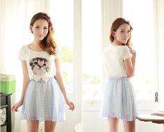 Mango Doll - Bow Kitty T-Shirt, $22.00 (http://www.mangodoll.com/all-items/bow-kitty-t-shirt/)