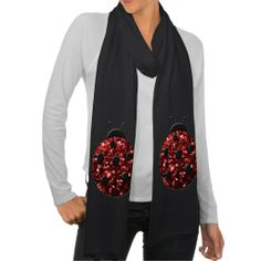#Beautiful Sparkling red #sparkles look #Ladybird #Ladybug #Scarf by #PLdesign #SparklesScarf #LadybugGift ** you can choose between 9 different colours **