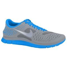 $70 sounds better than 90 - Nike Free Run 4.0 - Women's - Running - Shoes - Stealth/Reflect Silver/Blue Glow