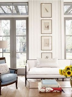 Love the tall French doors with windows above