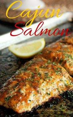 Cajun Salmon - Cajun or creole seasonings - pepper - garlic powder - onion powde. - Cajun Salmon – Cajun or creole seasonings – pepper – garlic powder – onion powder – papri - Creole Recipes, Cajun Recipes, Seafood Recipes, Dinner Recipes, Cooking Recipes, Healthy Recipes, Haitian Recipes, Louisiana Recipes, Donut Recipes