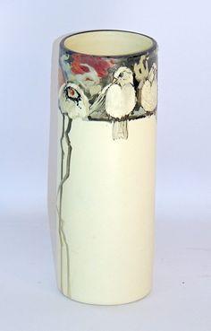 Weller Pottery Vase Weller Pottery, Hull Pottery, Pottery Vase, Ceramic Pottery, Ceramic Art, Slab Pottery, Ceramic Bowls, Pottery Sculpture, Ceramic Sculptures