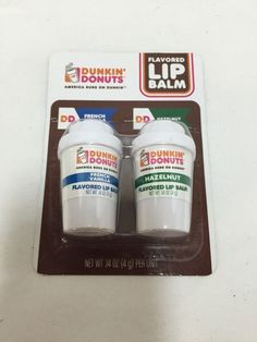New Dunkin Donuts Flavored Lip Balm Hazelnut & French Vanilla  #DunkinDonuts
