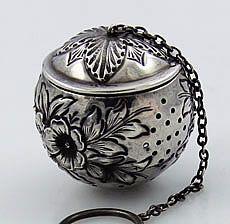 Wallace Antique Sterling Repousse Tea Ball