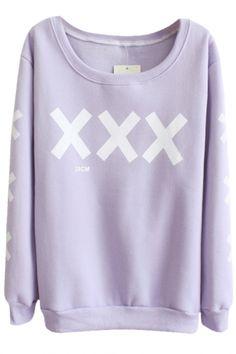 Cross Pattern Round Neck Long Sleeve Sweater, Quality Unique Hoodies & Sweatshirts - Beautifulhalo.com
