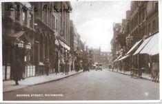1937 George Street Richmond Surrey RP | eBay Richmond Surrey, Richmond London, Richmond Upon Thames, Old London, London Photos, Local History, Old Photos, Worlds Largest, 1920s