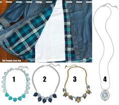 Which C+I piece would you pair with this denim and plaid? #TheJewelsLoveYou