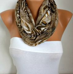 Items similar to ON SALE - Zebra Infinity Scarf Shawl Circle Scarf Loop Scarf Gift -fatwoman on Etsy Loop Scarf, Circle Scarf, Metallic Clothing, Shawl, Scarves, Etsy, Clothes, Style, Fashion