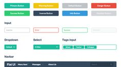 So neat and so clean flat web design by Flat UI Pro kit. http://goo.gl/k067yH