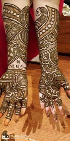 Check out the 60 simple and easy mehndi designs which will work for all occasions. These latest mehandi designs include the simple mehandi design as well as jewellery mehndi design. Getting an easy mehendi design works nicely for beginners. Dulhan Mehndi Designs, Mehandi Designs, Rajasthani Mehndi Designs, Mehndi Designs 2018, Mehndi Designs For Girls, Stylish Mehndi Designs, Mehndi Designs For Beginners, Mehndi Design Pictures, Beautiful Mehndi Design