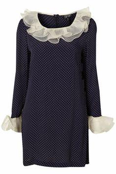Organza Frill Polka Dot Dress