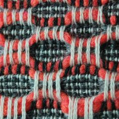 The Patternbase Digital Archive — Hand loom weavings by Sarah Giskin Weaving Designs, Weaving Projects, Weaving Patterns, Textile Patterns, Textile Texture, Art Textile, Weaving Textiles, Tapestry Weaving, Loom Weaving