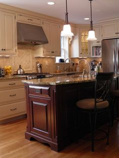 Two Tone Kitchen Cabinets Design, Pictures, Remodel, Decor and Ideas