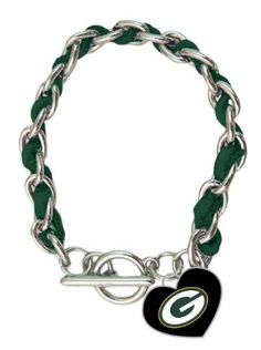 NFL Green Bay Packers Chain and Leather Strap Bracelet with Team Logo Charm by aminco. $16.99. NFL Green Bay Packers Chain and Leather Strap Bracelet with Team Logo Charm