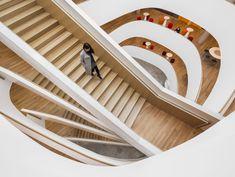 ERICSSON MONTREAL – CORPORATE CAMPUS AND R&D CENTRE by Menkès Shooner Dagenais Le Tourneux Architectes http://www.archello.com/en/project/ericsson-montreal-%E2%80%93-corporate-campus-and-rd-centre  Photo by: Stéphane Brügger