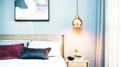 The Block 2014- love the copper pendant lights!