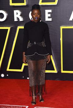 Intergalactic style: Newcomer Lupita Nyong'o looked incredible in a black ensemble, which ...