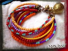 Multi Strand Bracelet African Bracelet Bohemian Bracelet