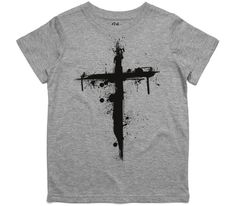 El Cheapo Cross (Black) Youth Grey Marle T-Shirt