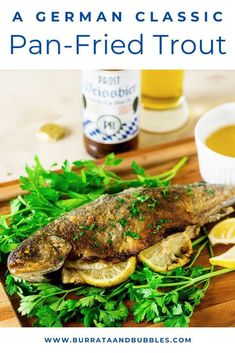 Oktoberfest is back and what better way to celebrate than with some fun Oktoberfest food? This traditional German pan fried trout is an Oktoberfest favorite. #Oktoberfest #OktoberfestParty #PanFriedTrout #OktoberfestFood #CookingWithBeer #TroutRecipes #SeafoodRecipes #BeerGardenParty #BeerGarden #BeerGardenFood #BeerAndFoodPairing Beer Recipes, Party Recipes, Fish Recipes, Seafood Recipes, Fall Dinner Recipes, Holiday Recipes, Pan Fried Trout, Oktoberfest Food, Cooking With Beer