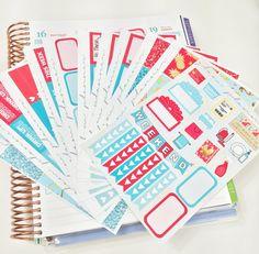 40% OFF! BUNDLE KIT June Color Scheme (Erin Condren Glossy Stickers)